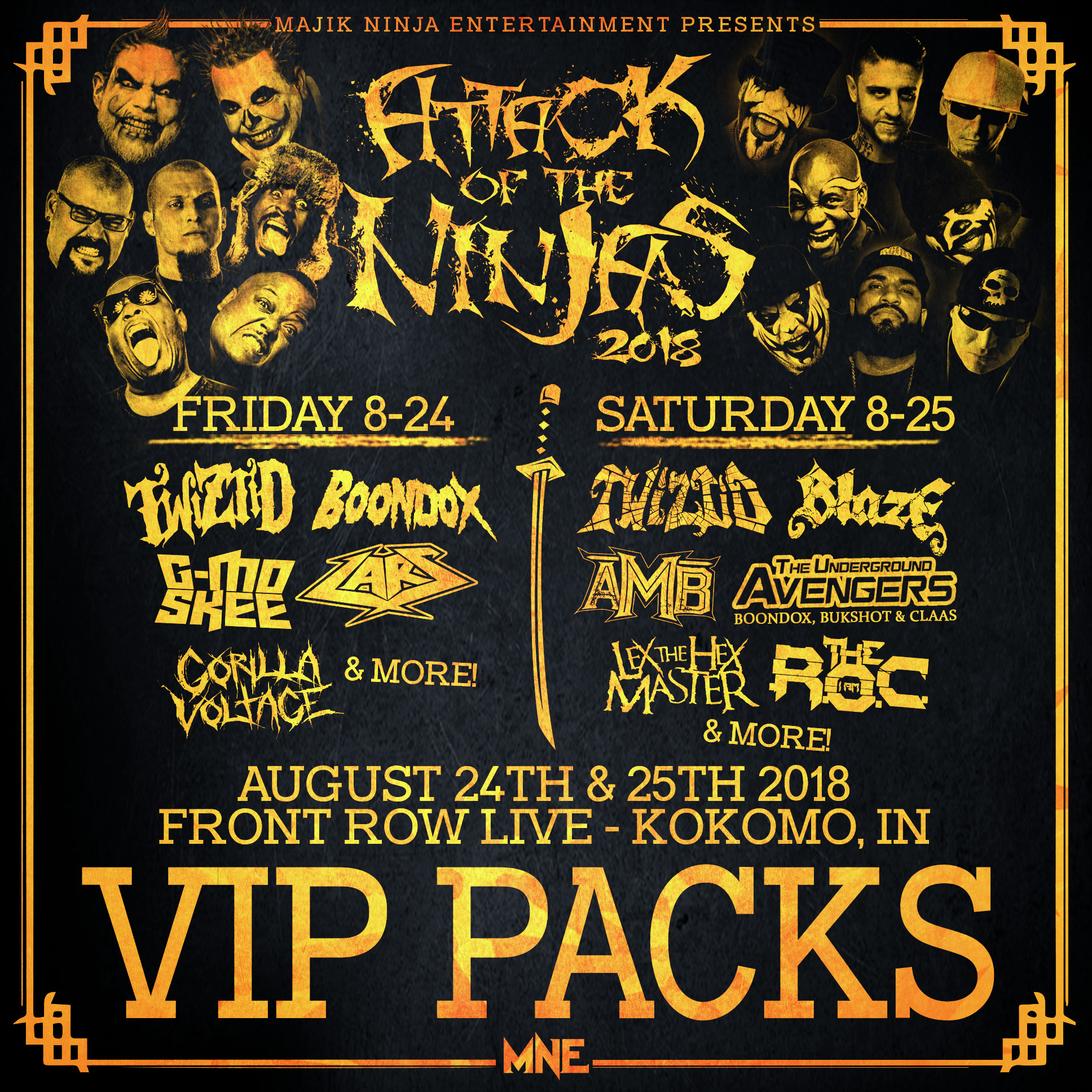Attack Of The Ninjas 2018 Entire Mne Family Vip Event Upgrade No