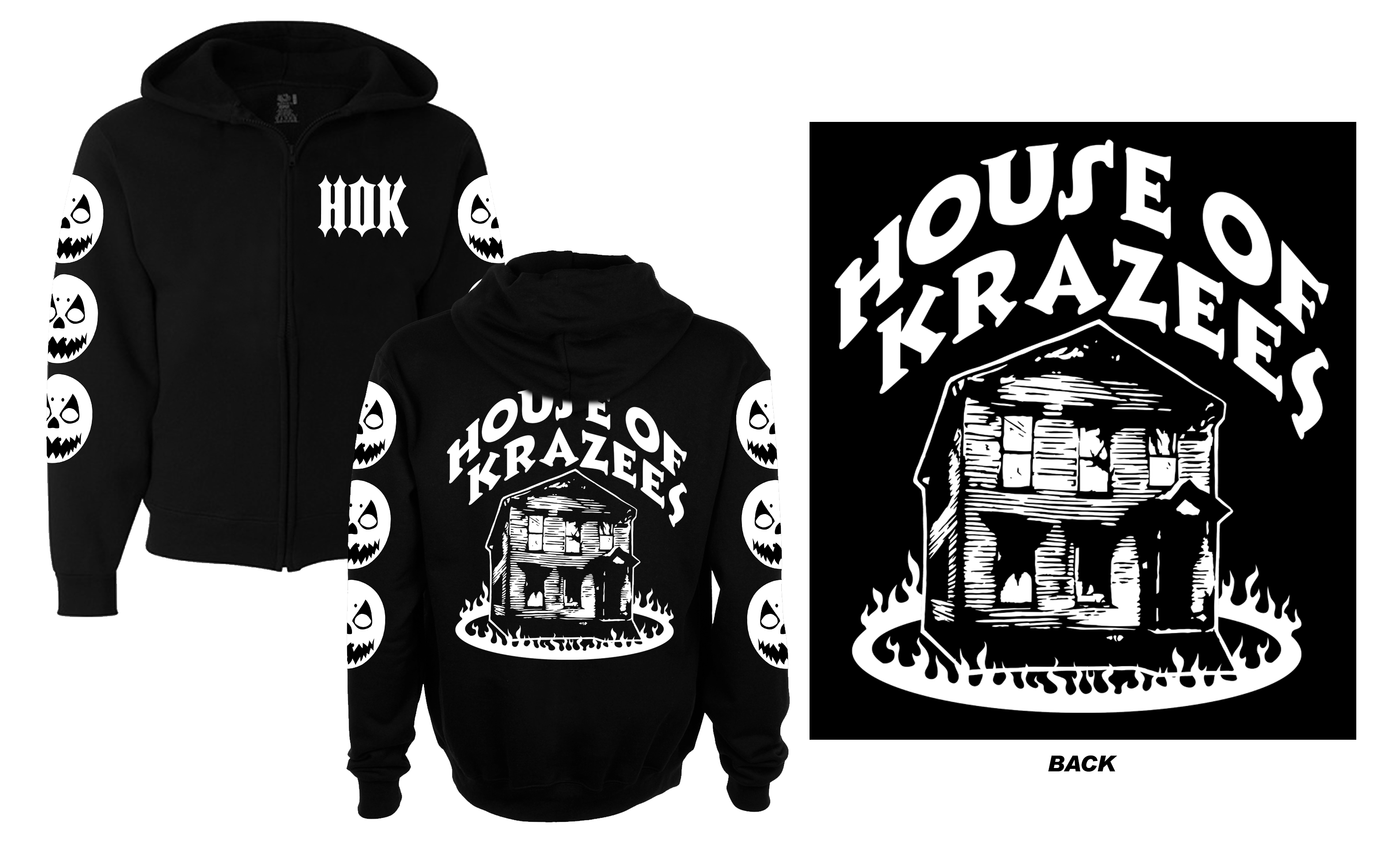 HOK Haunted House Throwback Zip Up Hoodie