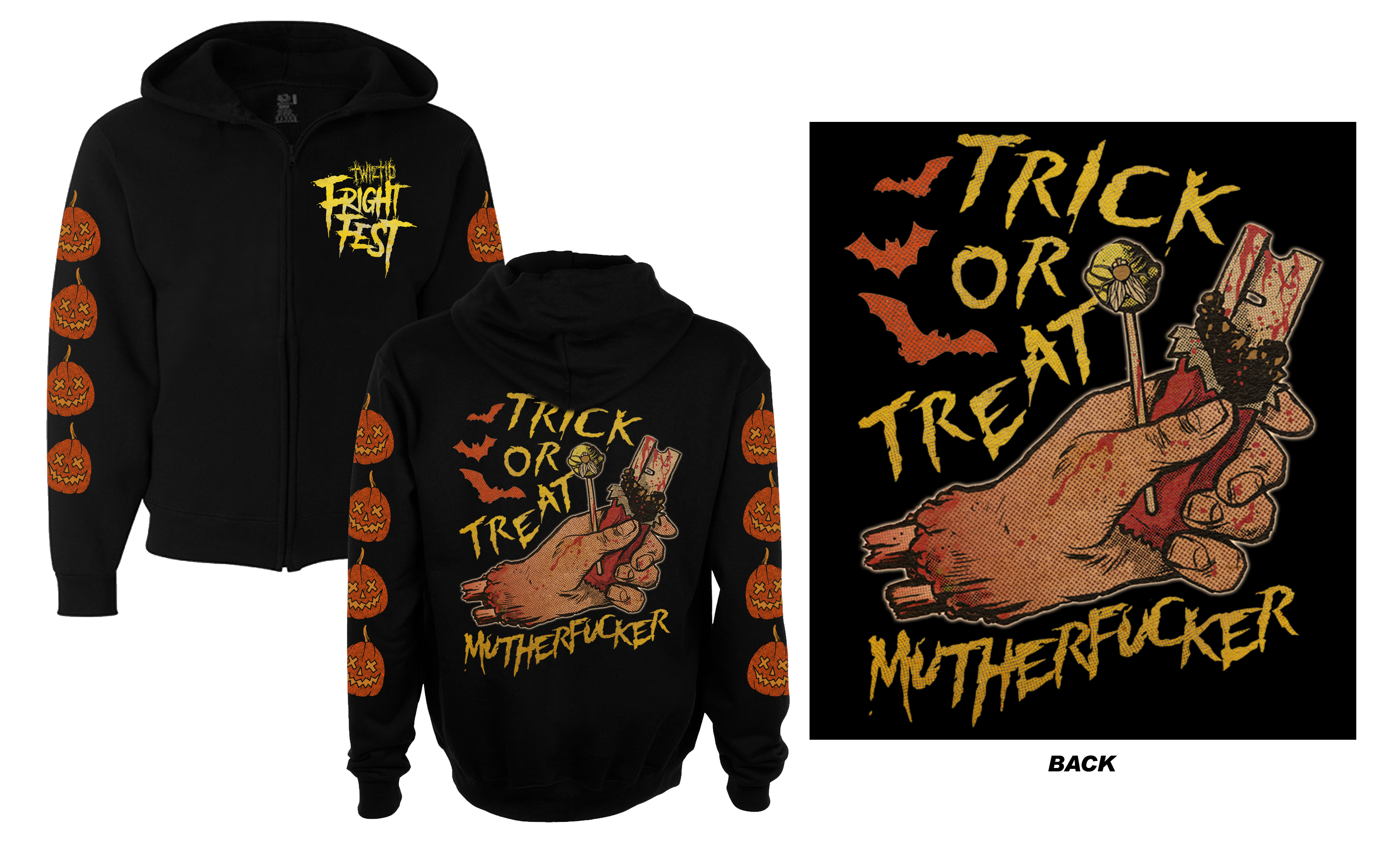 Twiztid Trick Or Treat Motherfucker Zip Up Hoodie