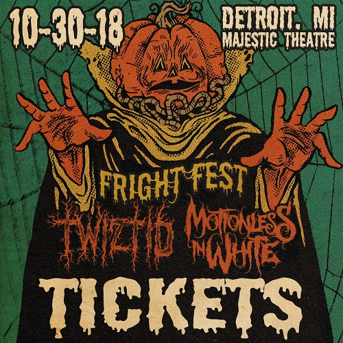Devils Night Twiztid and Motionless In White Fright Fest 2018 Concert Ticket
