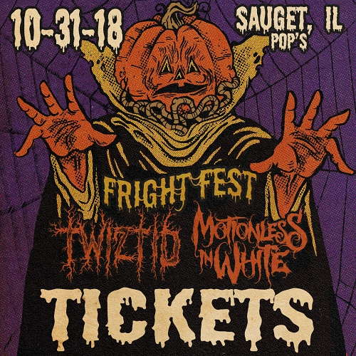 Halloween Night Twiztid and Motionless In White Fright Fest 2018 Concert Ticket