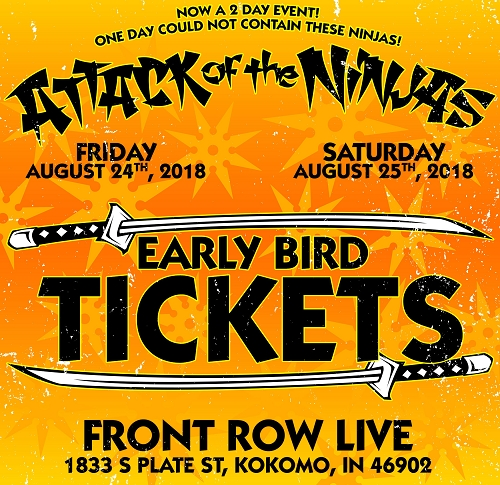 Attack Of The Ninjas 2018 2 Day Ticket - Early Bird Tickets