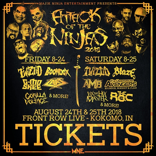 Attack Of The Ninjas 2018 2 Day Ticket