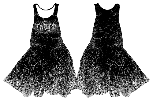 Twiztid Static Logo Black and White Dress