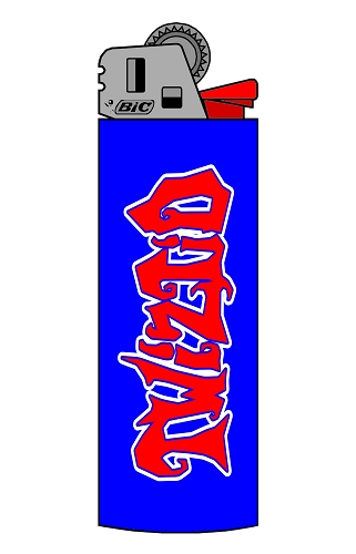 TWIZTID BLUE AND RED MOSTASTELESS LOGO BIC