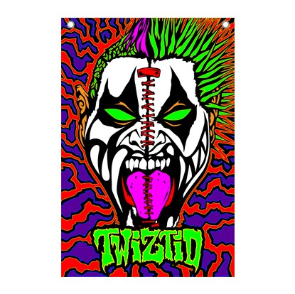 TWIZTID COLORFUL SPLIT FACE FLAG