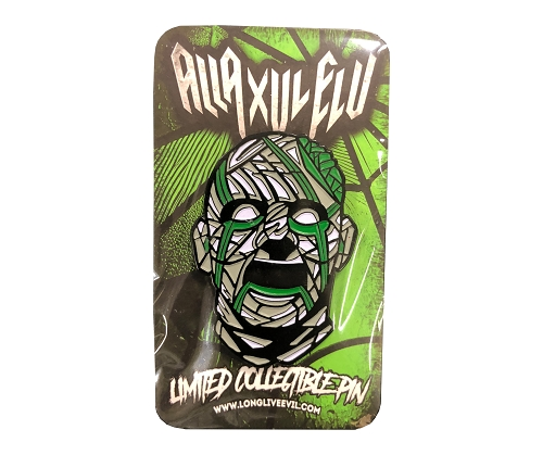 AXE Forever Face Green Stained Glass OG Hat Pin
