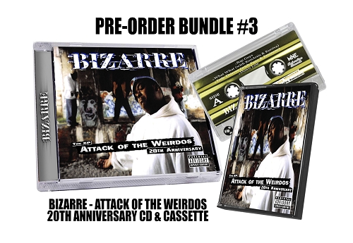 Bizarre Attack Of The Weirdos 20th Anniversary CD and Cassette Preorder Bundle #3