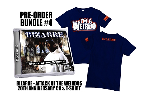 Bizarre Attack Of The Weirdos 20th Anniversary CD and Shirt Preorder Bundle #4