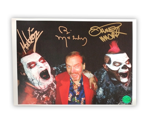 Twiztid and Bill Moseley 8x10 Flat from F.T.S. Autographed by Bill Moseley and Twiztid