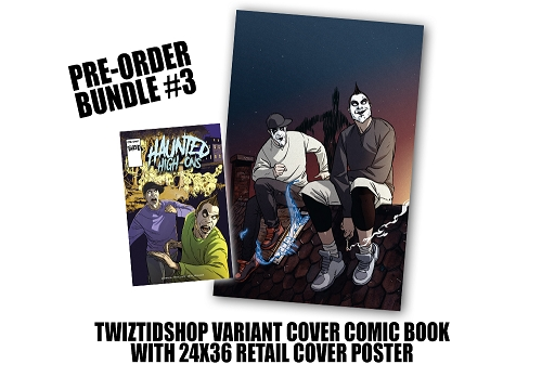 Twiztid's Haunted High-Ons Twiztidshop Variant Cover Comic Book Pre Order Poster Bundle #3