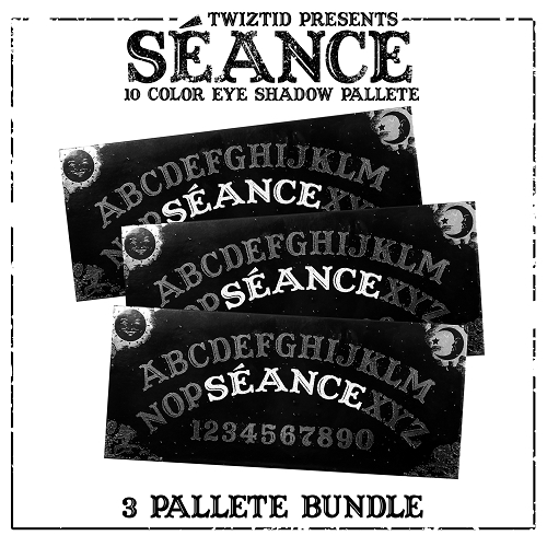 Seance by Twiztid Cosmetics 10 Color Eye Shadow Palette 3 Pack Bundle Pre Order #3