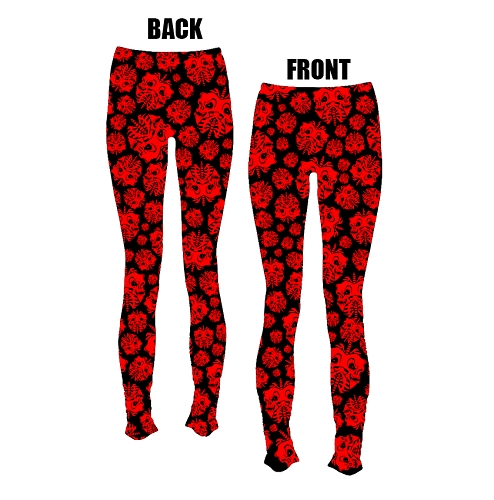 Twiztid Red and Black Skull Lungs Pattern LEGGINGS