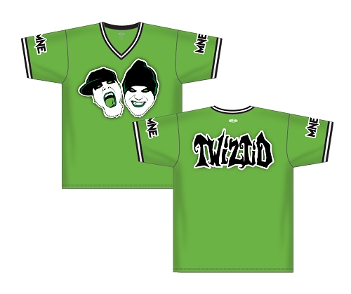LIME GREEN TWIZTID PULLOVER BASEBALL JERSEY