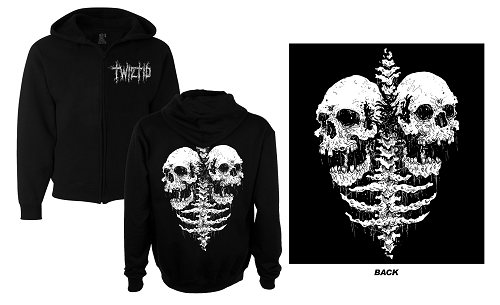 Twiztid Static Decaying Skull Lungs Zip Up Hoodie