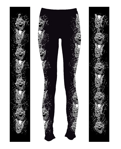 Twiztid Black and White Faces Leggings