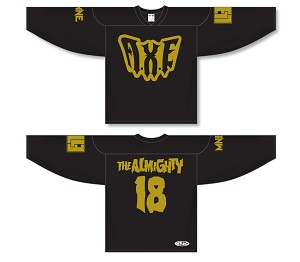 AXE BLACK AND GOLD THE ALMIGHTY HOCKEY JERSEY