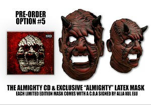 "Alla Xul Elu ""The Almighty"" CD Pre Order Forever Face Latex Mask Bundle #5"