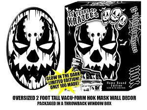 HOK Home Bound Glow in the Dark Black and White Oversized Vacu-form Mask Wall Decor Pre Order