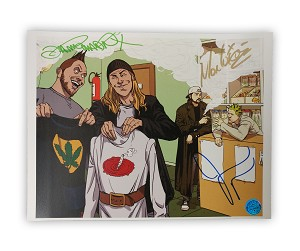 Hanted High-Ons Twiztid meets Jay and Silent Bob 8x10 Autographed by Jason Mewes and Twiztid