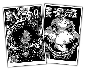"Jamie's Limited Art Print BUNDLE ""The Dark Witch"" and ""Teenage Mutant Ninja Twiztid"" Black Versions"